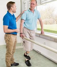 Bandagist træning benprotese