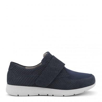 Newfeet sko med velcrolukning i blå