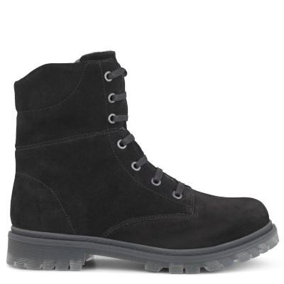 Newfeet sort sko med lang skaft