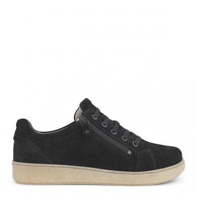Newfeet sko i ruskind med lys sål