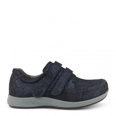 Newfeet sko med dobbelt velcrolukning med gedeskind