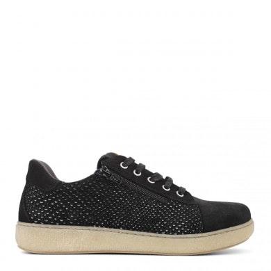 Newfeet sko med lynlås i metal look