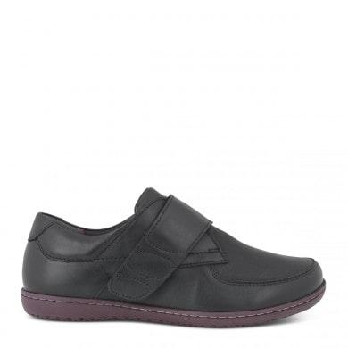 Newfeet sko med velcrolukning i sort